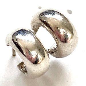 Ralph Lauren sterling silver huggie hoop earrings